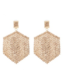 Fashion Champagne Fringed Diamond Stud Earrings
