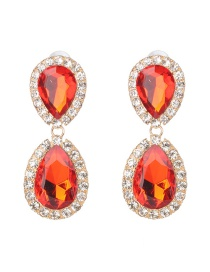 Fashion Red Water Droplet Earring