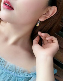 Fashion F Prince Princess Color Asymmetrical Earrings