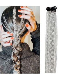 Fashion Silver Bb Clip Wig Extension Hair Chain