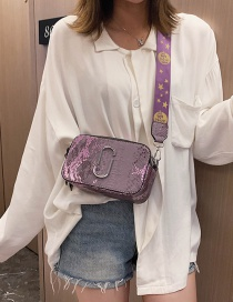 Fashion Purple Snake Crossbody Shoulder Bag