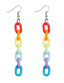 Fashion Color Chain Type Acetate Plate Ear Hook