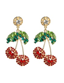 Fashion Cherry Acrylic Diamond Cherry Earrings