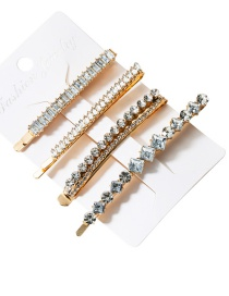 Fashion Four-piece Set Acrylic Diamond Hair Clip Four-piece