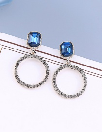 Fashion Circle Earrings S925 Sterling Silver Geometric Circle Earrings