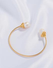 Fashion Gold Natural Freshwater Bread Pearl Bracelet