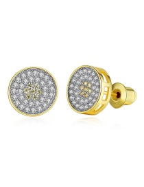 Fashion 18k Gold Micro-studded Stud