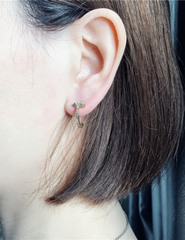 Fashion Gold Micro-diamonded Curved Earrings