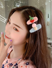 Fashion Pink Blue Clip Fruit Side Clip