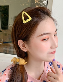 Fashion Yellow Hairpin Hairline Printed Embroidery Hair Clip