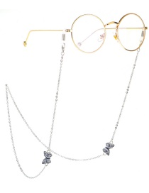 Fashion Silver Butterfly Engraved Metal Glasses Chain