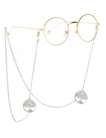 Fashion Silver Life Tree Necklace Glasses Chain Dual Purpose