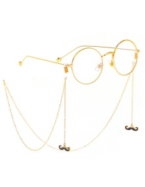 Fashion Gold Non-slip Metal Beard Glasses Chain