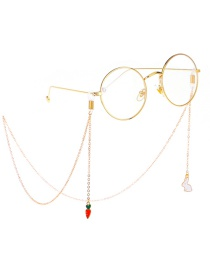 Fashion Gold Non-slip Metal Rabbit Carrot Glasses Chain