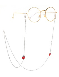Fashion Silver Seven-star Ladybug Metal Glasses Chain