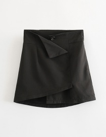 Fashion Black Irregular A Word Skirt