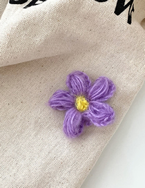Fashion Purple-hair Clip Wool Flower Hair Clip
