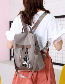 Fashion Gray Oxford Cloth Backpack
