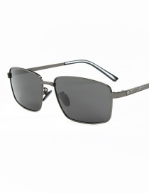 Fashion Black Frame Full Gray C1 Irregular Half-frame Sunglasses