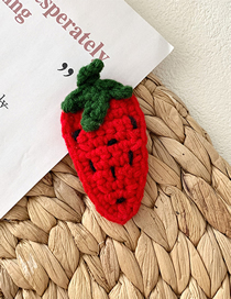 Fashion Strawberry Wool Woven Vegetable And Fruit Hair Clips