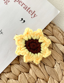 Fashion Sun Flower Wool Woven Vegetable And Fruit Hair Clips