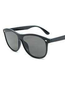 Fashion Black Frame Black Gray C1 Siamese Lens Sunglasses