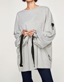 Fashion Gray Large Size Two-color Loose Sweater