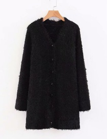 Fashion Black Two-color One Size Sweater