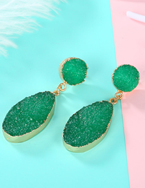 Fashion Green Imitation Natural Stone Earrings