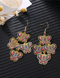 Fashion Blue Color Iron Butterfly Earrings