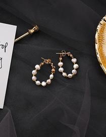Fashion Pearl 925 Silver Needle Irregular Pearl Earrings