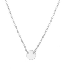 Fashion Silver 925 Silver Geometric Round Gold Plated Necklace