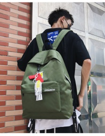 Fashion Green Embroidered Letter Backpack