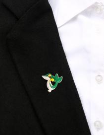 Fashion Green Alloy Drip Squirrel With Diamond Brooch
