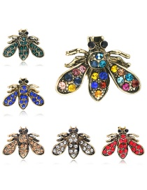Fashion Gold Alloy Diamond Insect Brooch 6 Packs