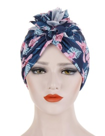 Fashion Navy Cotton Flower Cloth Flower Headband Hat