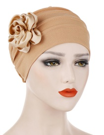Fashion Khaki Side Flower Hex Cap