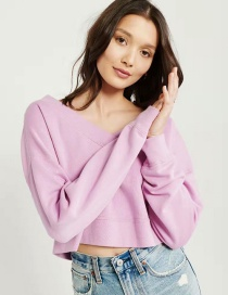 Fashion Purple Bat Sleeve Sweater