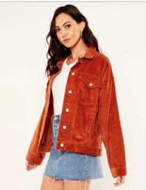Fashion Orange Light Strip Jacket