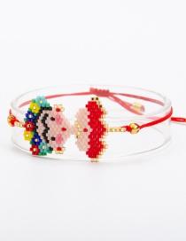 Fashion Red Cartoon Woven Jewelry Bracelet