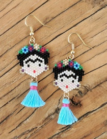 Fashion Light Blue Fleida Ladies Earrings