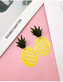 Fashion Yellow Acrylic Fruit Earrings