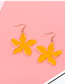 Fashion Yellow Petals Transparent Acrylic Earrings