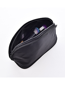 Fashion Black Dual-use Cosmetic Bag