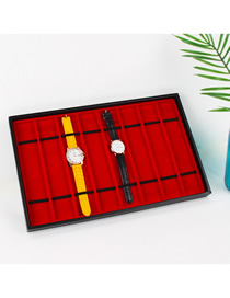 Fashion 8 Grid Standard Red Watch With Necklace Display Tray