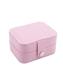 Fashion Pink (small) Portable First Earrings Ring Storage Box