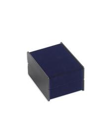 Fashion Blue Suede Portable Watch Display Case