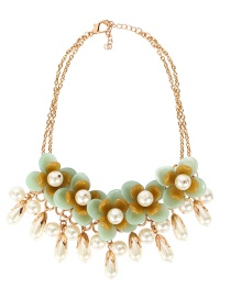 Fashion Green Flower Necklace