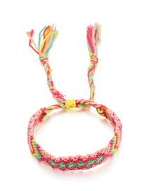 Fashion Red + Yellow Woven Color String Bracelet
