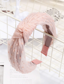 Fashion Pink Lace Headband Lace Mesh Yarn Headband